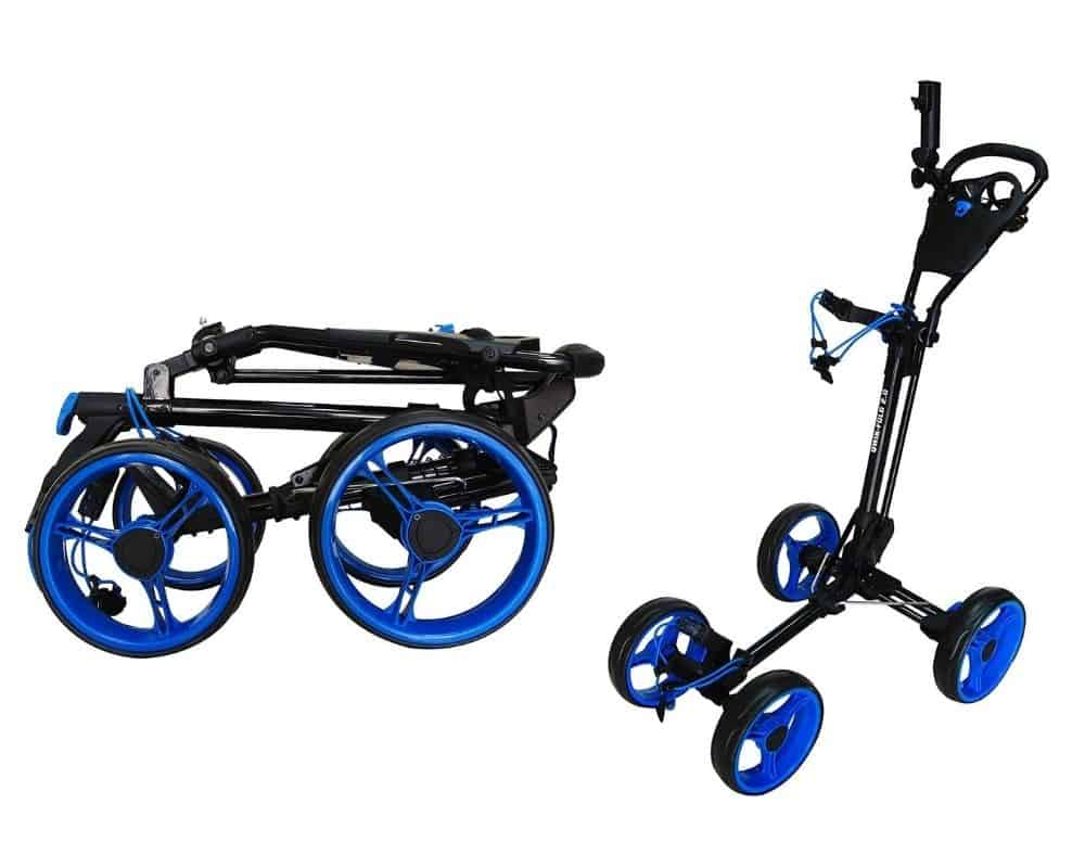 Qwik-Fold 4 Wheel Folding Push Pull Golf CART