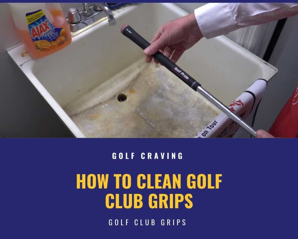 Clean Golf Club Grips Using Grip Cleaning Wipes